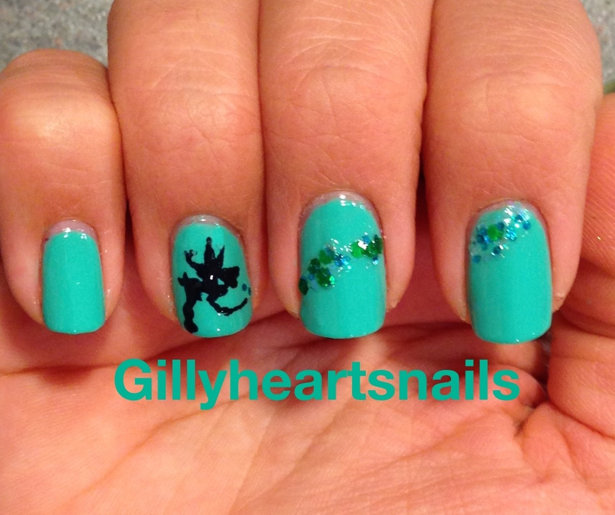 Tinkerbell Nails: Tinkerbell Silhouette